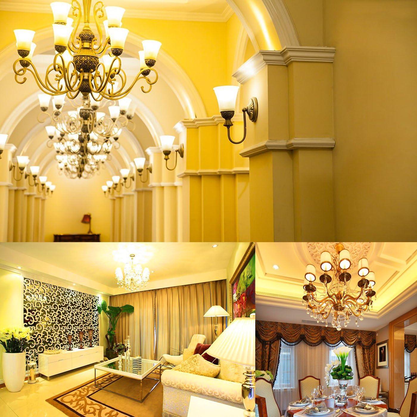 HzSane LED Corn Bulbs 1200 Lumens LED Lights E12 Base 3 Pack 12W Warm White 3000K LED Bulbs 100 Watt Incandescent Bulbs Equivalent Cylinder Bulbs