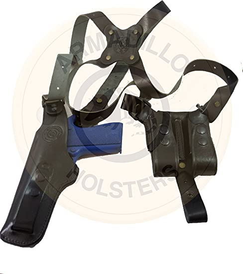 Left Hand Armadillo Tan Horizontal Miami Shoulder Holster for S/&W MP Models