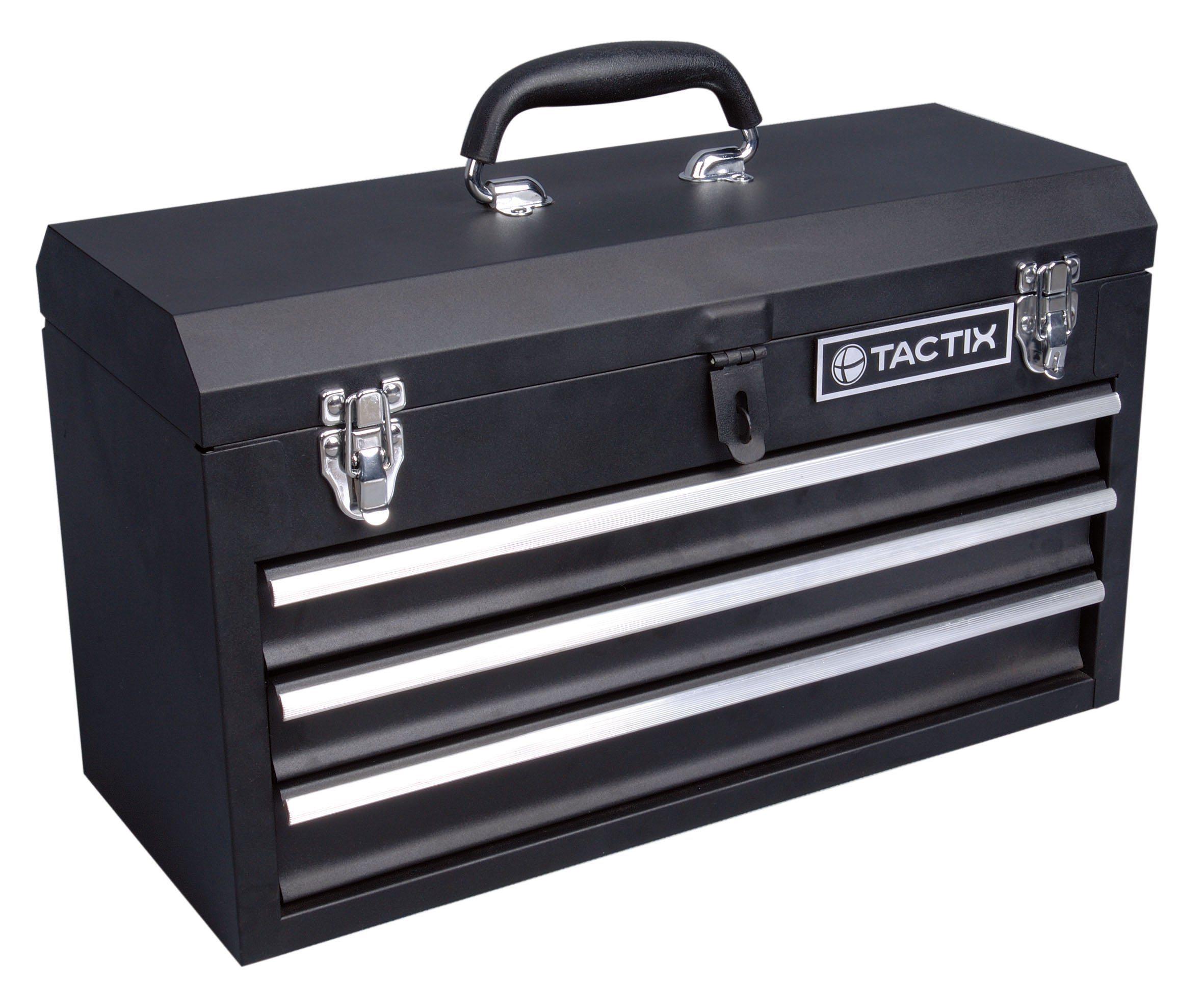 Tactix 321102 3 Drawer Steel Portable Tool Box, 52cm