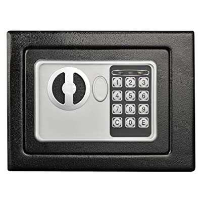 Digital Security Safe Box for Valuables- Compact Waterproof and Fireproof Steel Lock Box