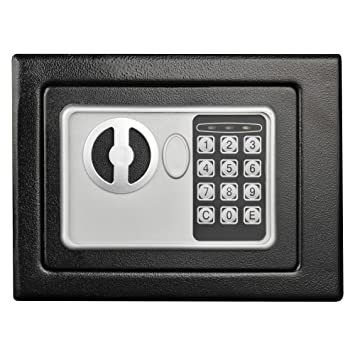 Digital Security Safe Box For Valuables Compact Waterproof And Fireproof Steel Lock Box With Electronic