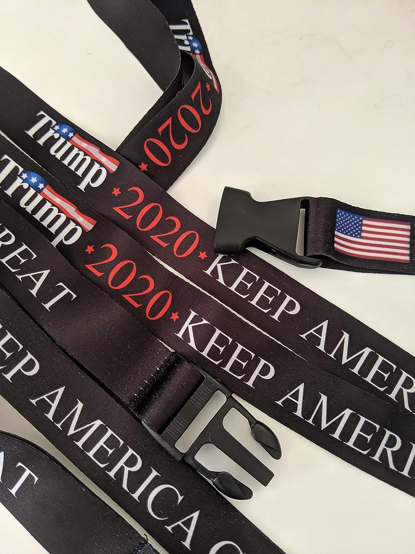Camo Keep America Great USA Flag Donald Trump 2020 Neck Lanyards Keychains 2 Packs