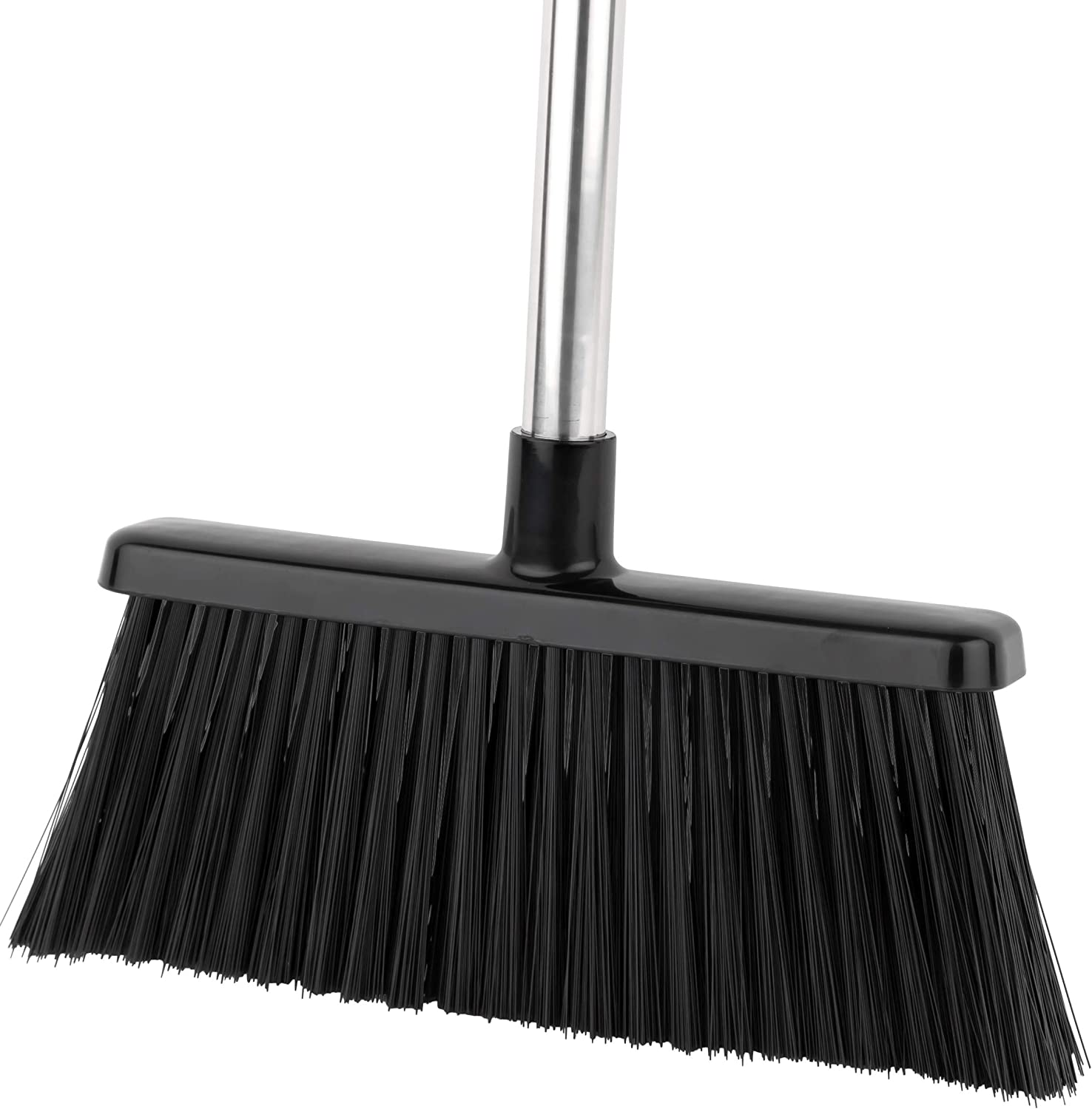 """64"""" Long Collapsible Broom a BristleComb Outdoor Broom and Dustpan Set Upright"""