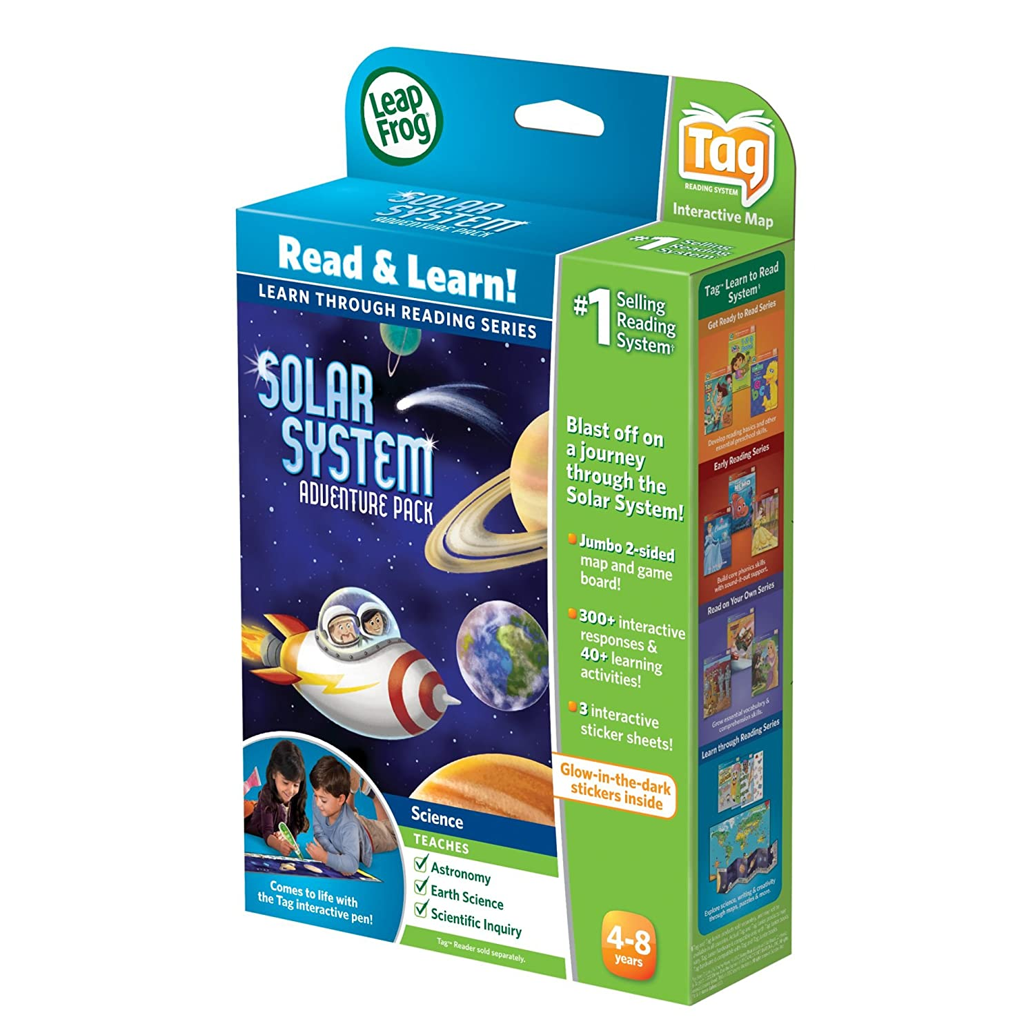 works with Tag LeapFrog LeapReader Interactive Solar System Discovery Set 80-21215E