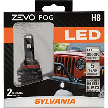 SYLVANIA ZEVO H8 LED Fog Light Bulbs   Contains 2 Bulbs. Amazon com  SYLVANIA ZEVO H8 LED Fog Light Bulbs   Contains 2