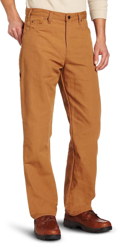 Dickies Men's Relaxed Fit Straight-Leg Duck Carpenter Jean at  Men's Clothing store: Dickies Work Pants