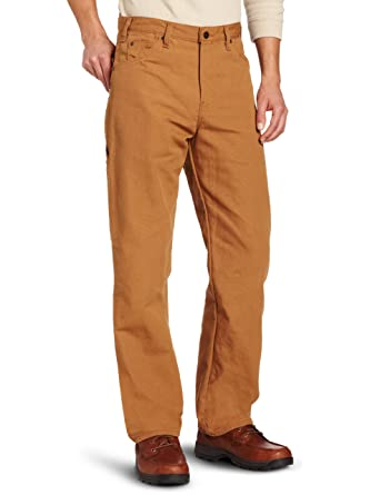 Dickies Men's Relaxed Fit Duck Carpenter Jean, Brown Duck, 30x30