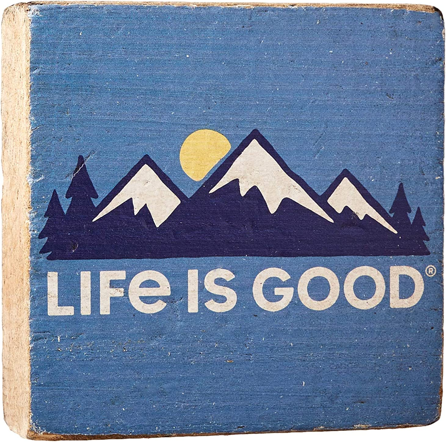Life is Good Small Wooden Sign Life is Good Mountains