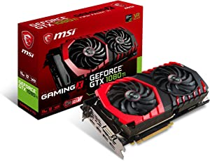 MSI GAMING GeFroce GTX 1080 Ti 11GB GDRR5X DirectX 12 352-bit VR Ready Graphics Card (GTX 1080 TI GAMING X 11G) (Renewed)