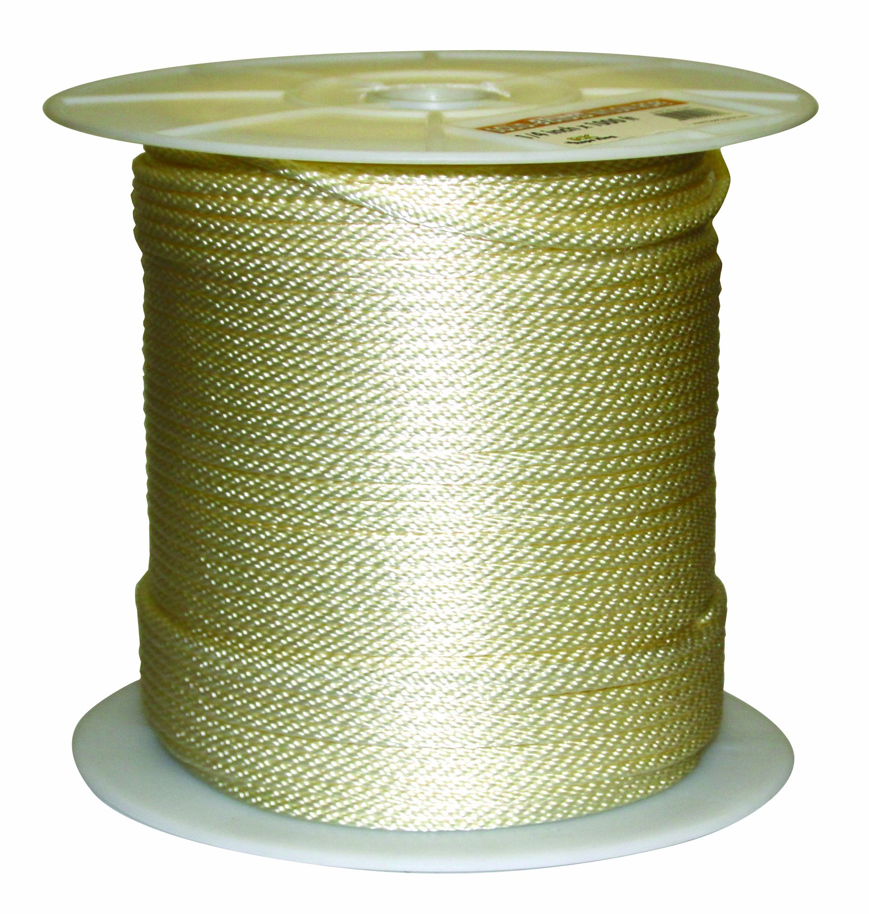 Rope King SBN-141000 Solid Braided Nylon Rope 1/4 inch x 1,000 feet
