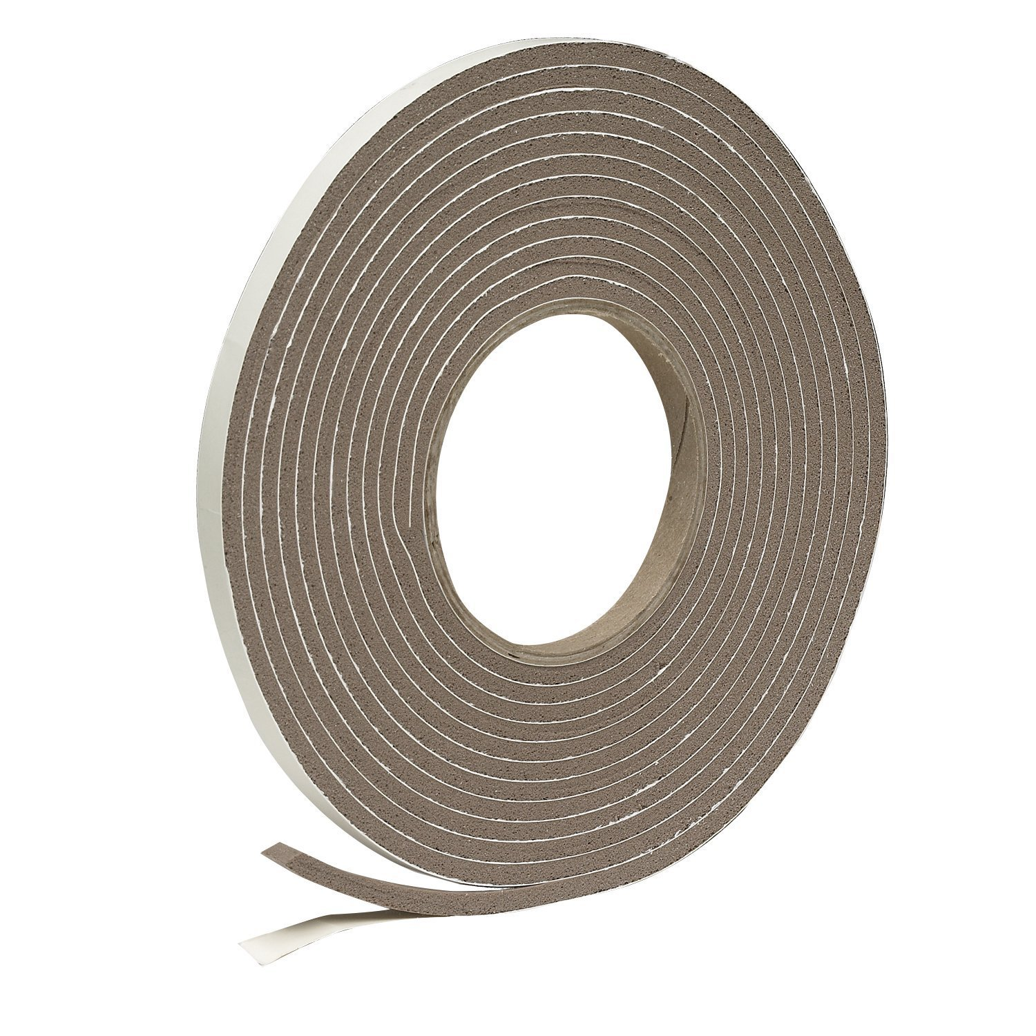 Frost King Vinyl Foam Tape - Closed Cell - Moderate Compression, 3/8'' W, 3/16'' Thick, 17' L, Brown