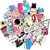 Wingsflying 50-Pack Stickers for Water Bottles Cute Waterproof Aesthetic Trendy Stickers for Waterbottle Laptop Phone Travel Extra Durable 100% Vinyl