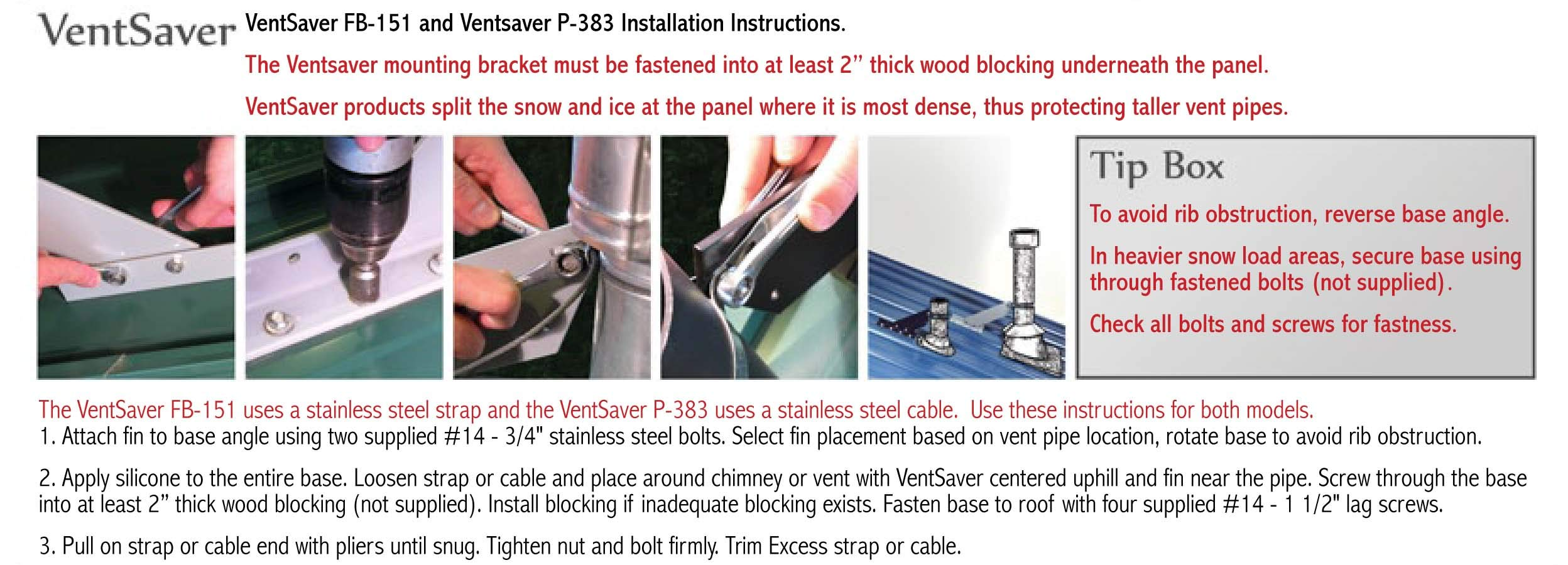VentSaver FB-151 Snow Guard Vent Pipe Stack Protector by SnoBlox