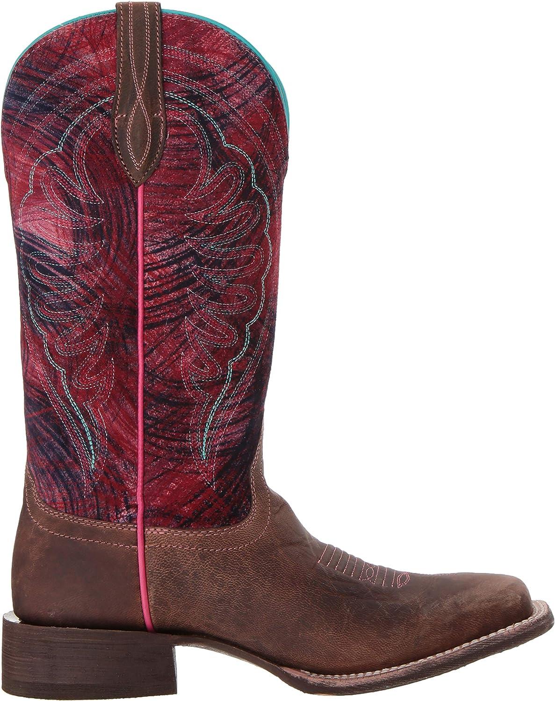 Ariat - Damen Circuit Shiloh Western Western Schuhe Weathered Tan Paint Brush Pink