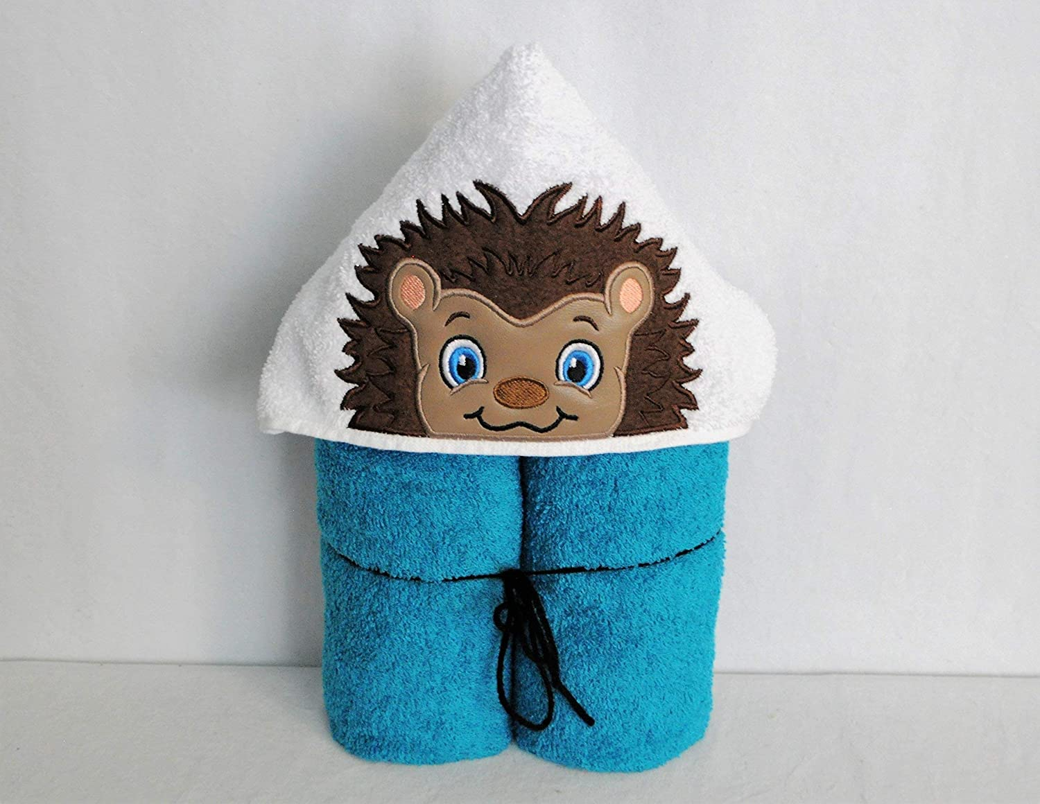 Sweet Boy Hedgehog Hooded Bath Towel - Baby, Child, Tween