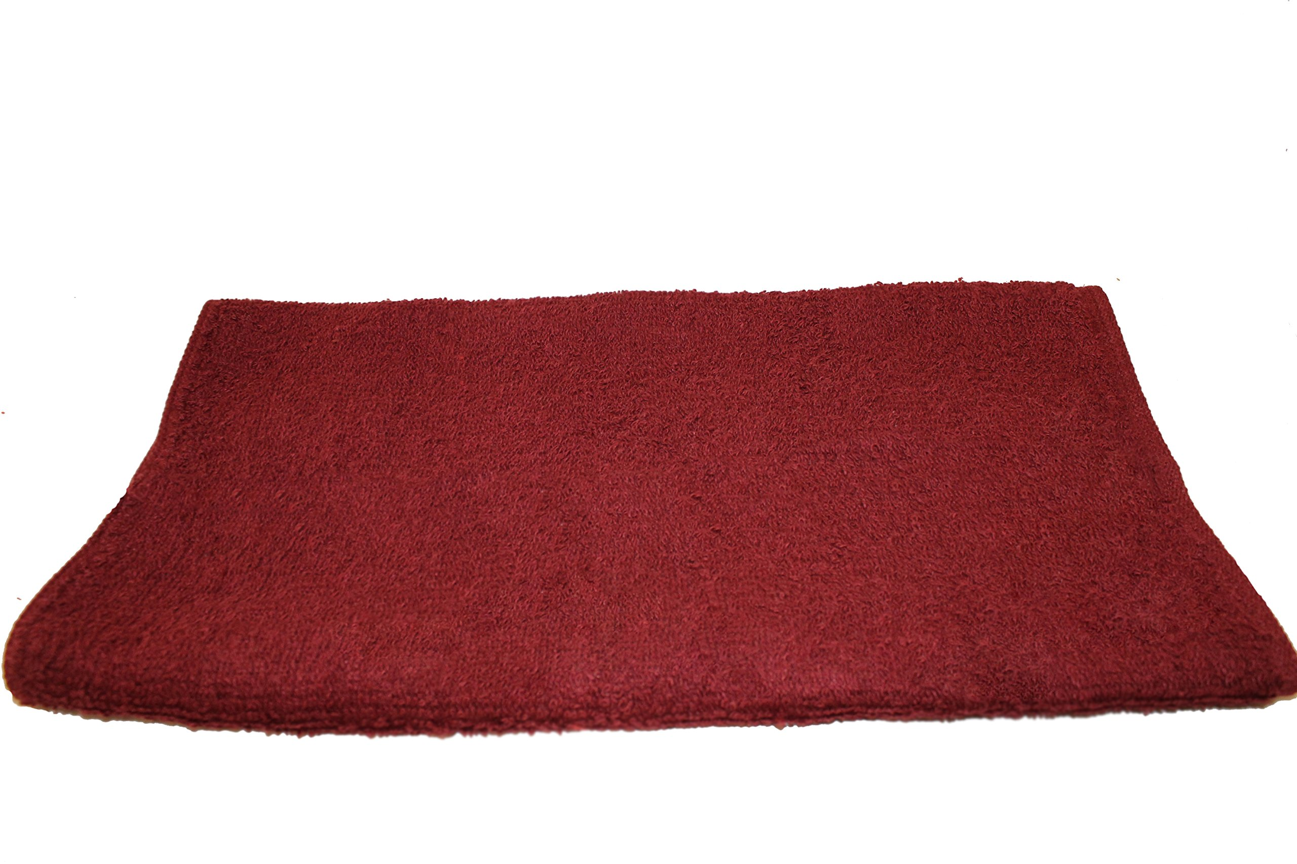 FREE SHIPPING 12 DOZEN Mr.Towels Imports Premium 100% Cotton Cleaning Towel 16'' X 27'' - Burgundy