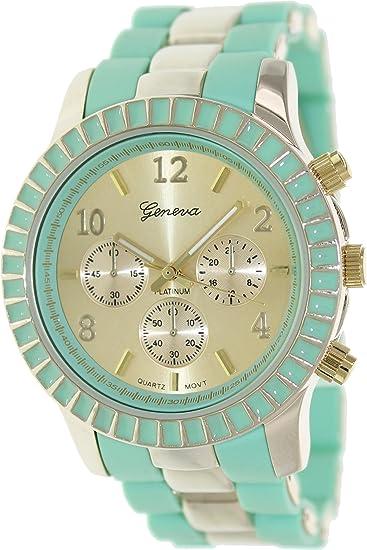 Geneva Platinum 9294.MINT.GOLD Mujeres Relojes