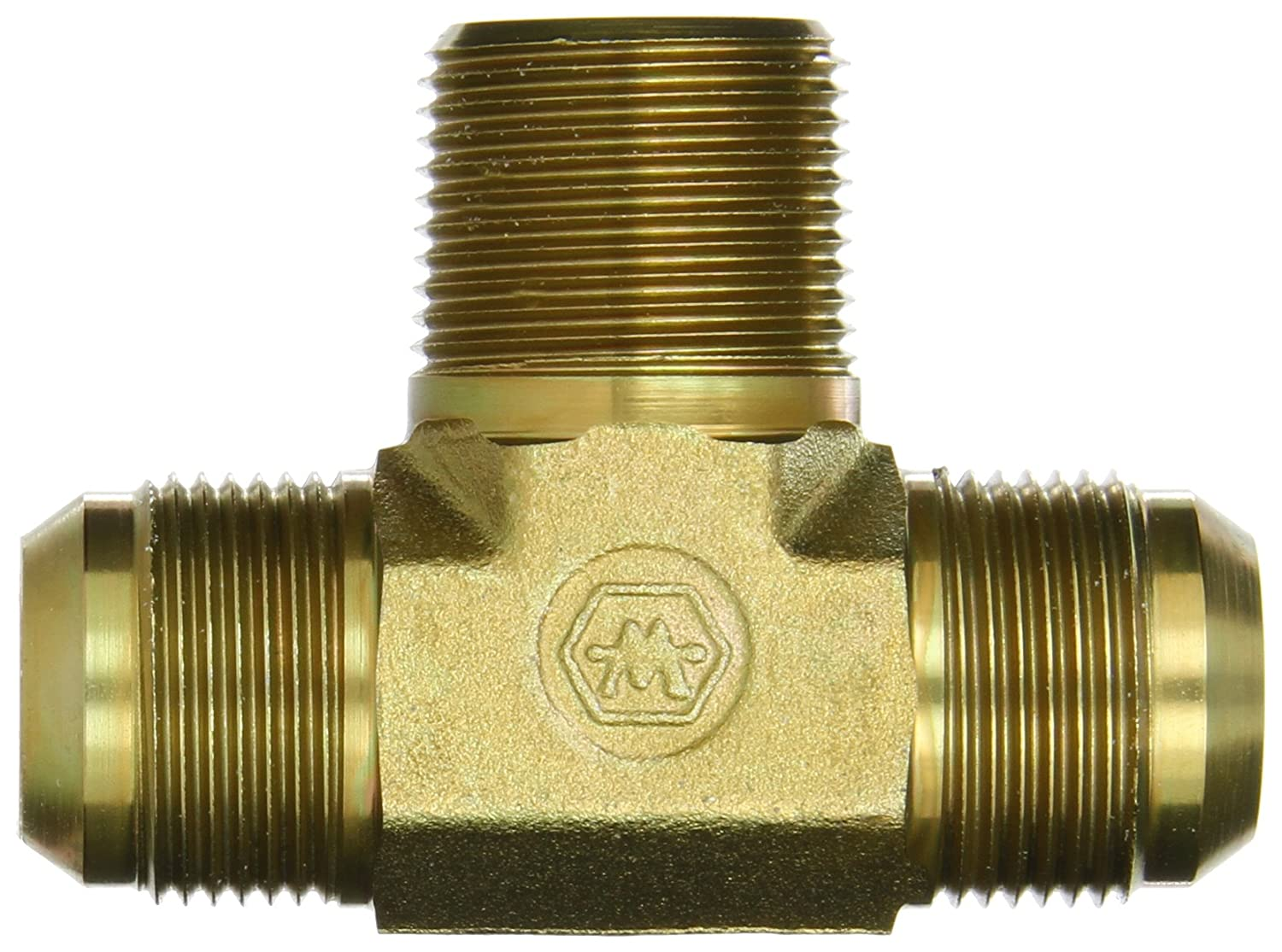 JIC Flare-Twin Fitting 1 NPT Male x 1 JIC Male Eaton Weatherhead C5605X16 Carbon Steel SAE 37 Degree Branch Tee