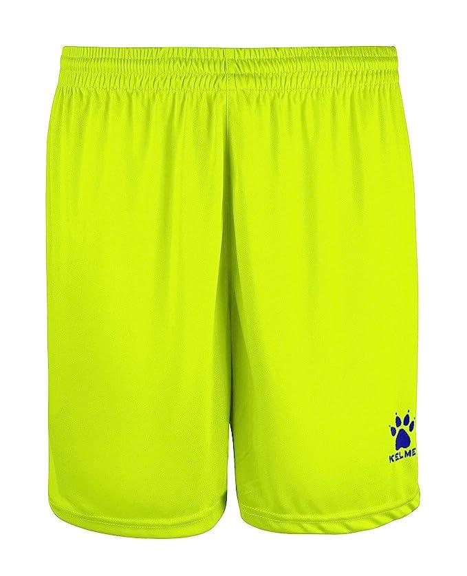 Pantalón deportivo corto para hombre de color amarillo neón