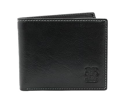 e87866a985b0 CAPPIANO Gents Genuine Leather Slim Front Pocket 11 Credit Card Holder Billfold  Wallet for Men -