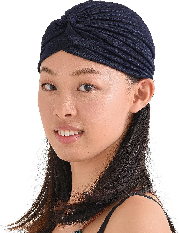 Twist Pleated Head Wrap Turban Costume Chemo Hat Fashion Fortune Teller Turban