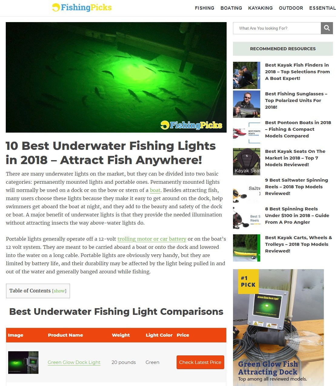 Bright Green Underwater Fishing Lights, Double Lamp Kit with 50' Cords Saltwater or Fresh by Green Glow Dock Light (Image #2)