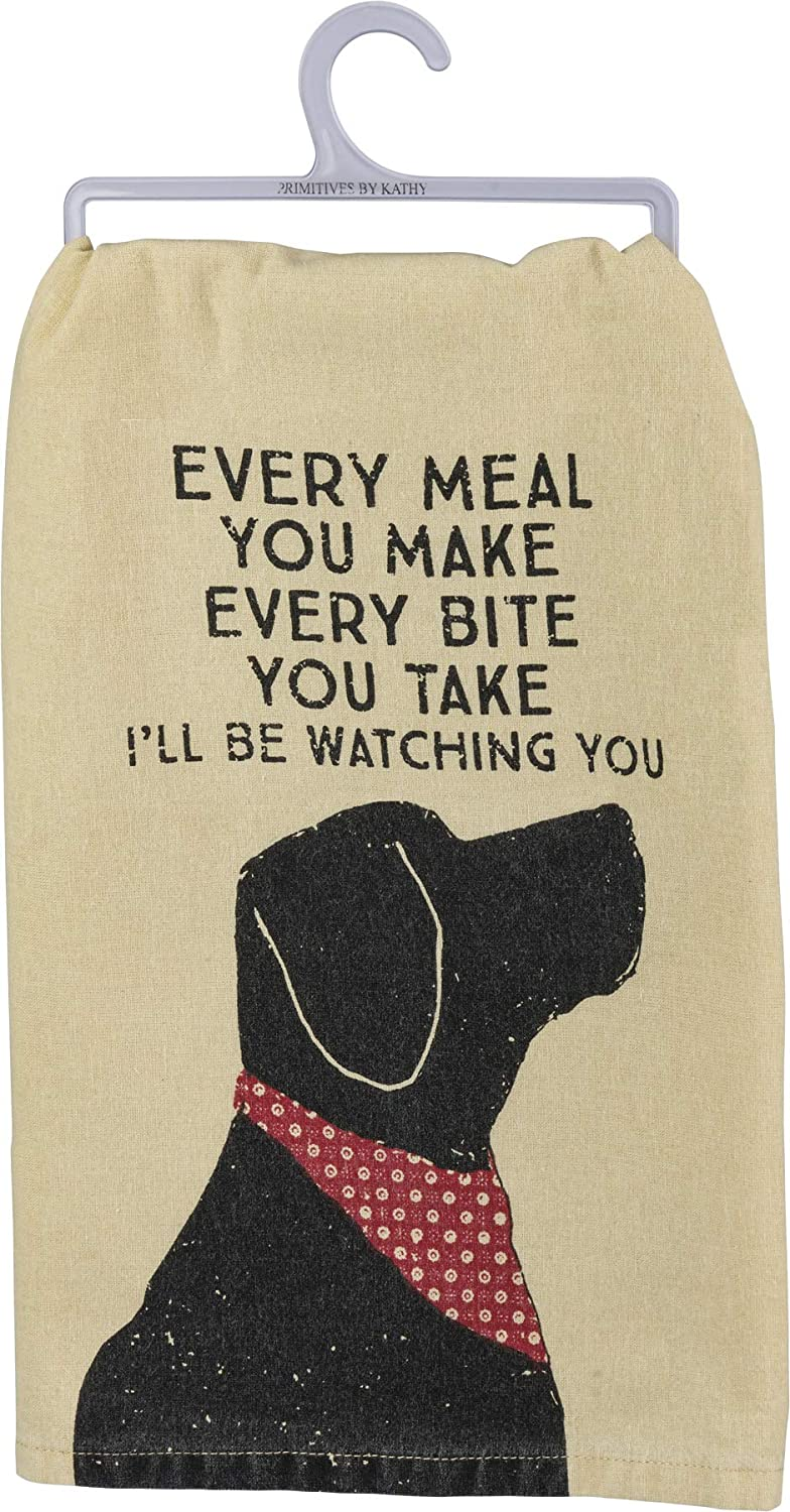 """Primitives by Kathy Rustic Dish Towel, 28"""" x 28"""", I'll Be Watching You: Home & Kitchen"""