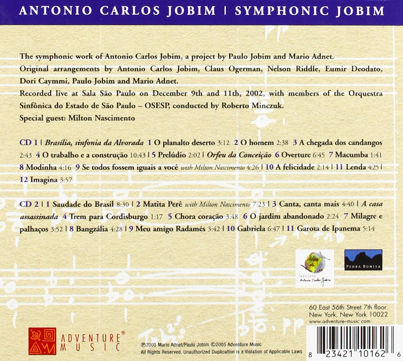 Symphonic Jobim (Jobim Sinfônico) by Adventure Music