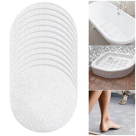 Mture Anti-Rutsch Sticker für Badewanne und Dusche, Durchsichtige Antirutsch Aufkleber für mehr Grip,10 cm, Transparent Und S
