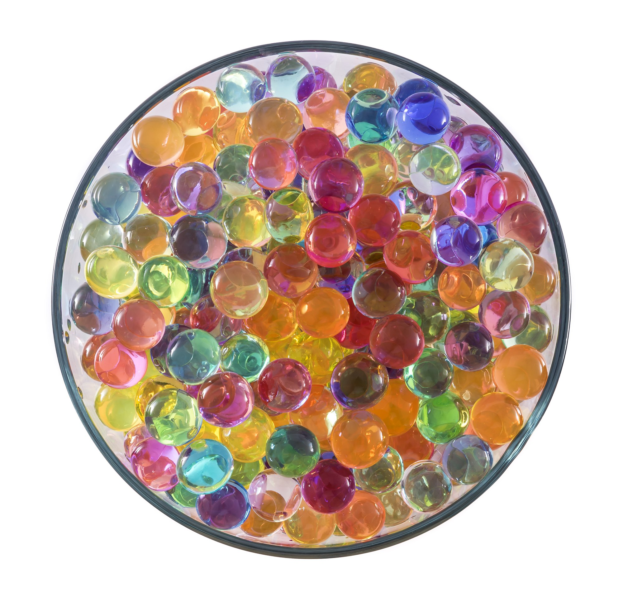 4000 Water Beads Gift Vase Filler with 6 AMAZING COLORS 36 INDIVIDUAL PACKS Expanding Water Beads 5 Grams per Individual Pack Water Sensory Toy for Children Non-Toxic Decorative Crystal Soil