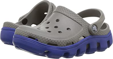 805681c7d5df1f Crocs Kids Unisex Duet Sport Clog (Toddler Little Kid) Smoke Cerulean Blue