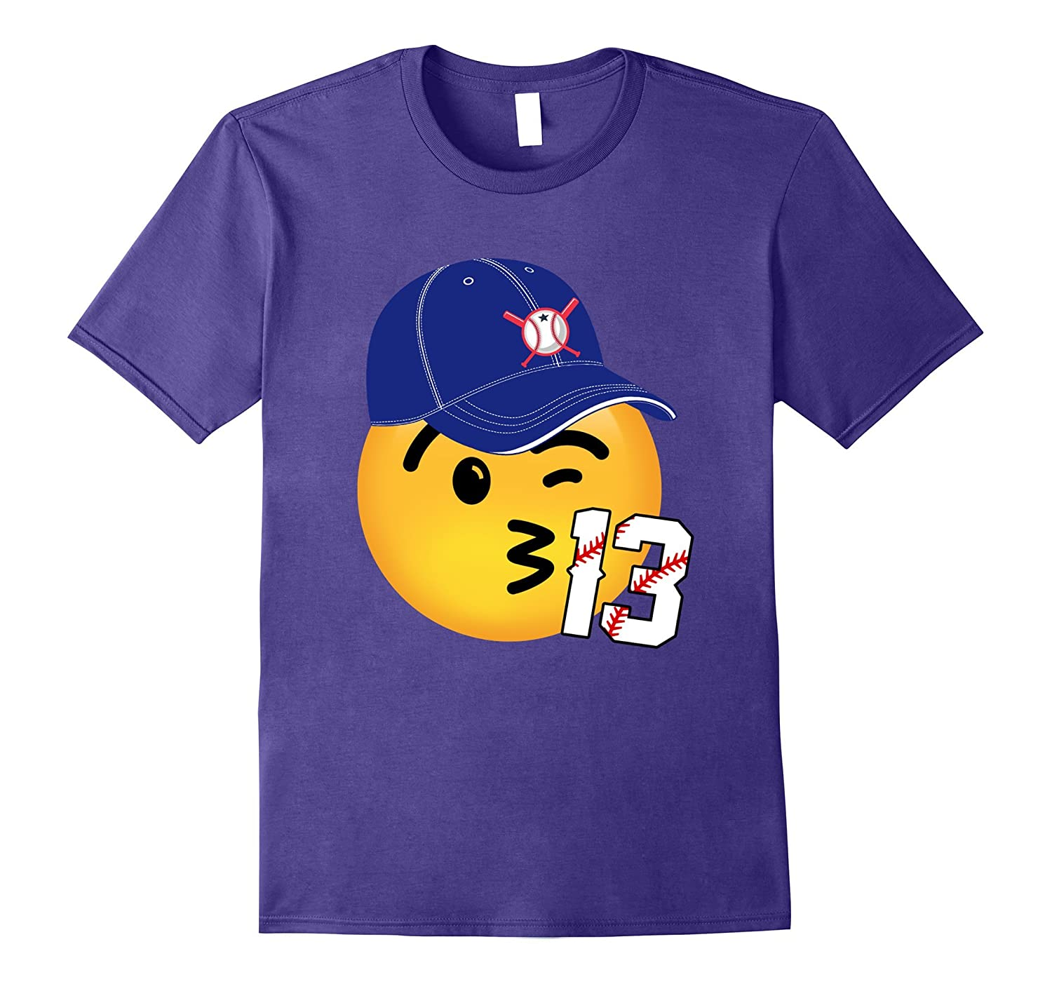 13th birthday baseball emoji shirt-CD