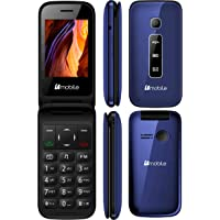 Bmobile C245 Teléfono Liberado 3G Plegable para Adulto Mayor Senior SMS, SOS con Camara VGA Desbloqueado