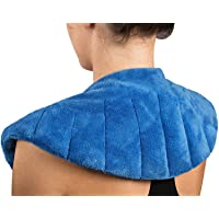 NatraCure Microwaveable Moist Heat Wrap (w/Clay Beads) - (Hot Therapy Pack and Heating...