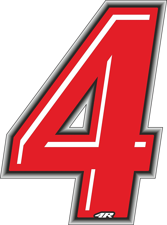 quattroerre 13264 Nú mero Racing 4 Slim, Rojo, 10 x 6,5 cm 10x 6 5cm Quattroerre Italia