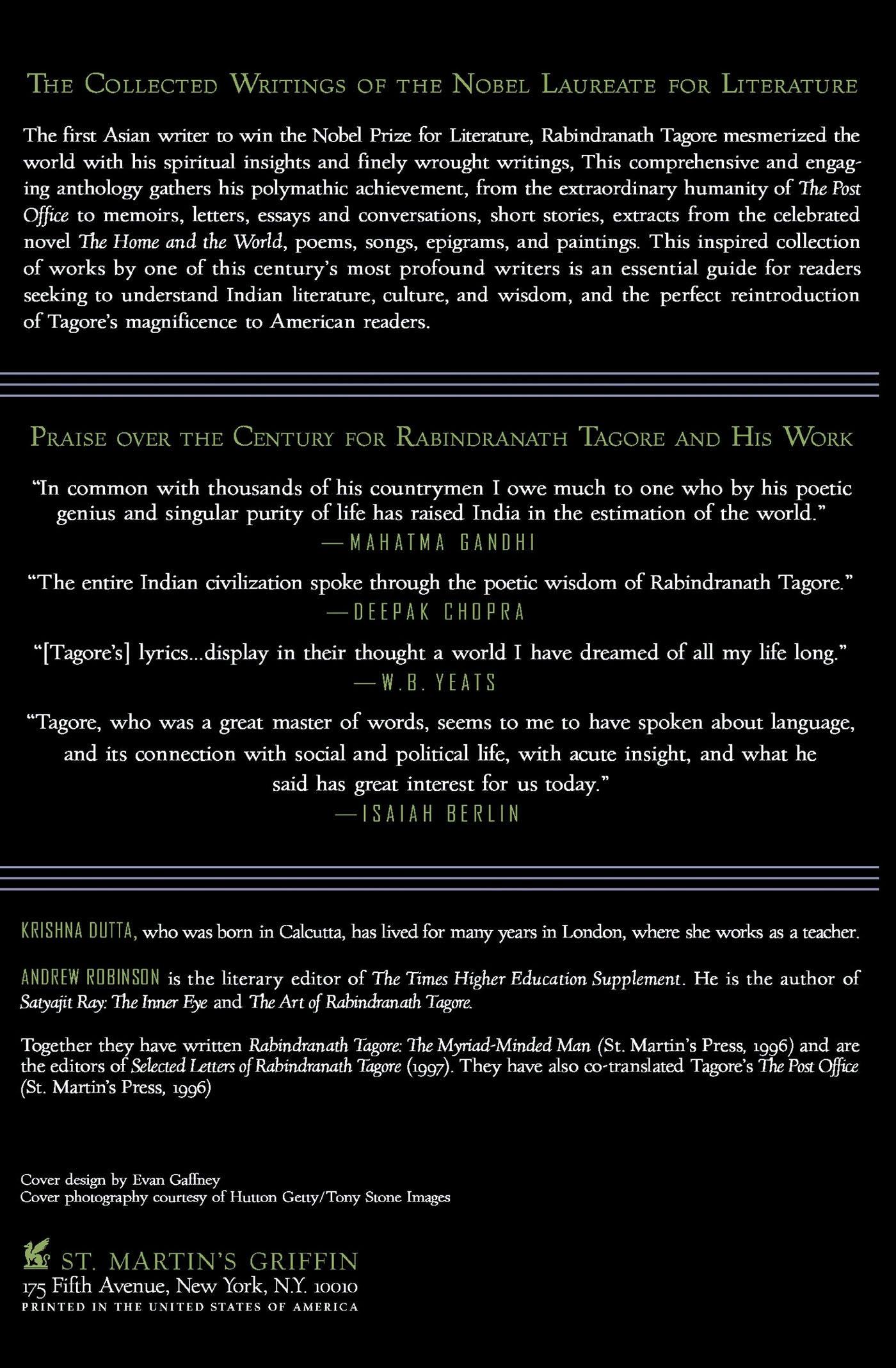 Amazon Rabindranath Tagore An Anthology