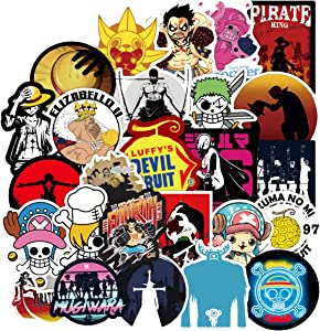 One Piece Anime Cartoon Laptop Stickers Waterproof Skateboard Car Snowboard Bicycle Luggage Decal 100pcs (One Piece Anime)
