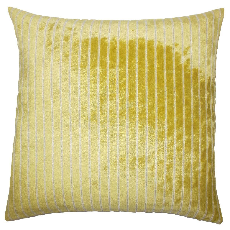 The枕コレクションMaaikeストライプペリドットDown Filled Throw枕 B074N6GV39