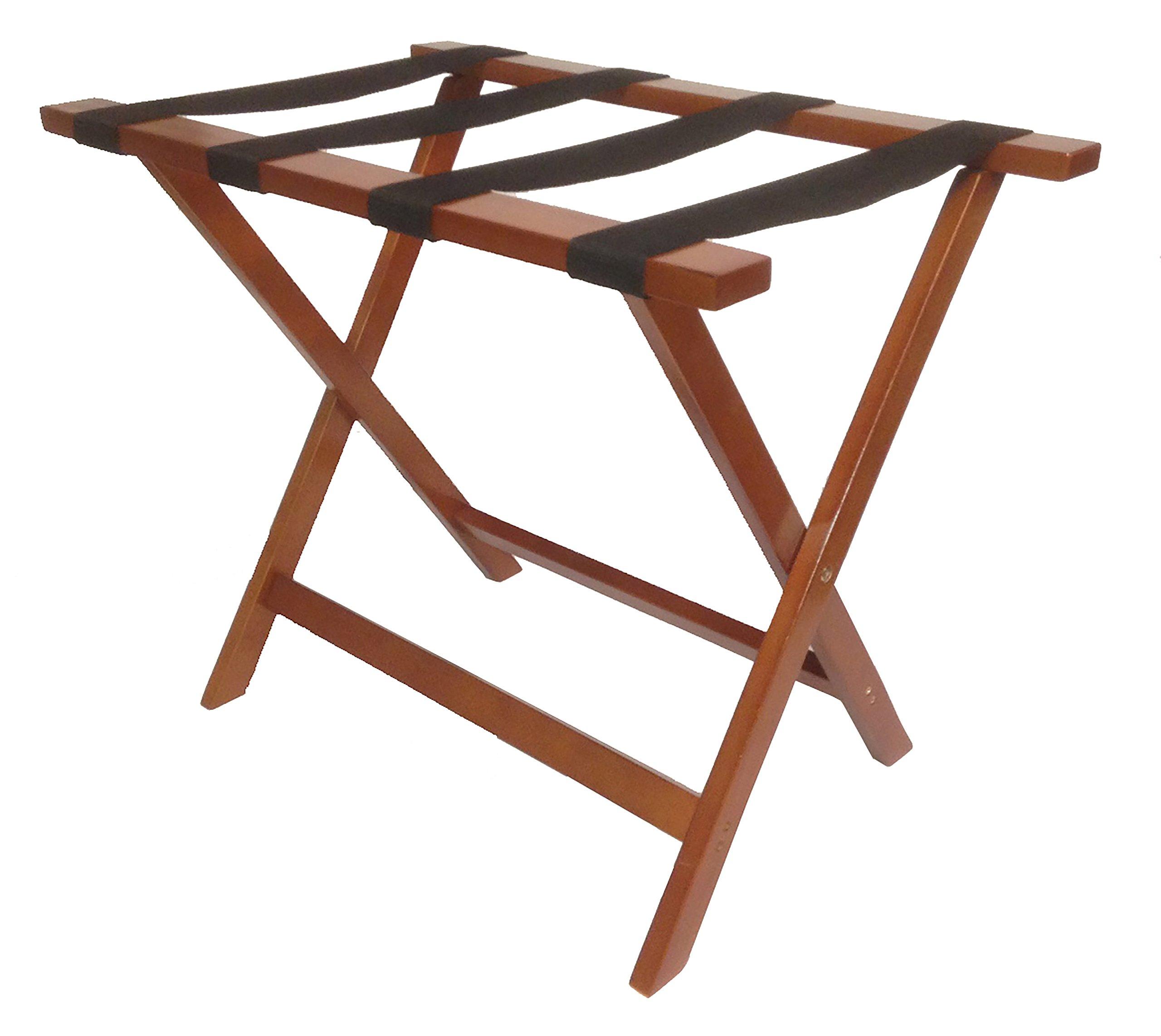 Wholesale Hotel Products Wooden Luggage Rack, Mahogany Finish