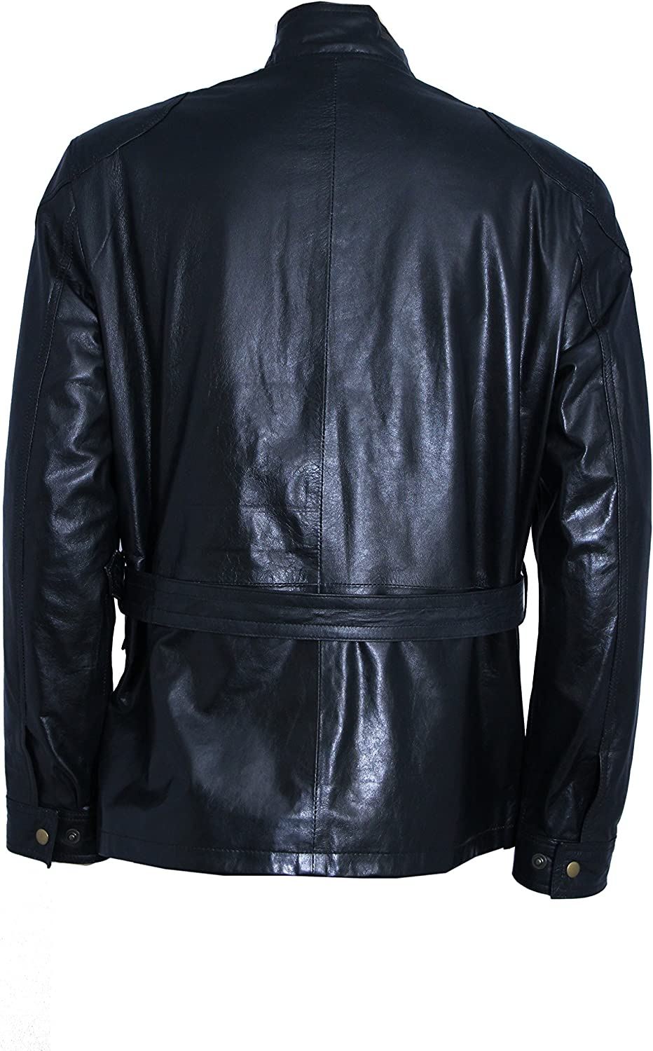 Mens Designer Roadmaster Motorcycle Paded Style Real Leather Jacket