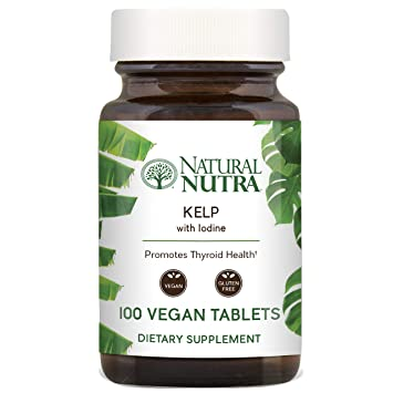 Natural Nutra Kelp Iodine Supplement, North Atlantic Sourced Seaweed  Extract, 225 mcg, 100 Vegetarian