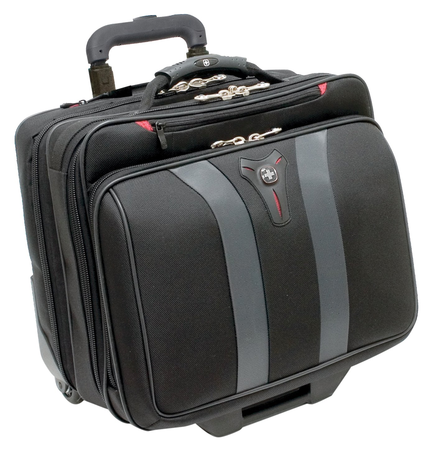 Swissgear Granada Rolling Case Nylon for Upto 17-Inch Notebooks - Black Trg - Swiss Gear GA-7011-14F00