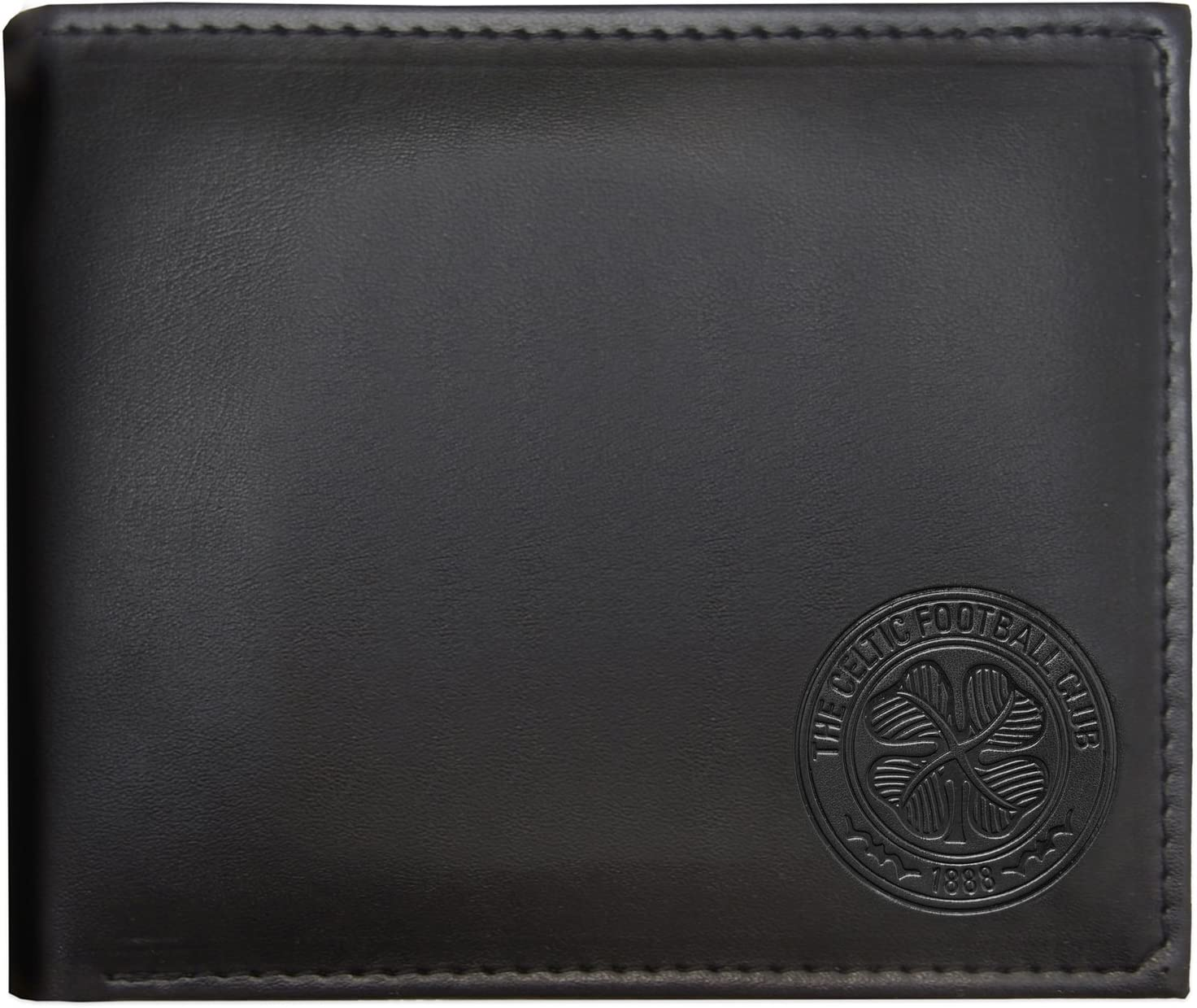 Celtic FC Embroidered Wallet Black//Green One Size