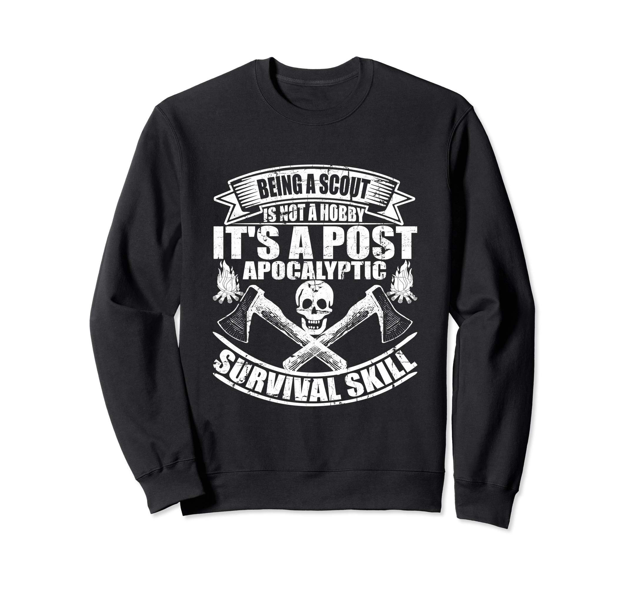 Being A Scout Is Not A Hobby Scouting Troop Leader Boy Cub  Sweatshirt by Scouting Shirts By Ark