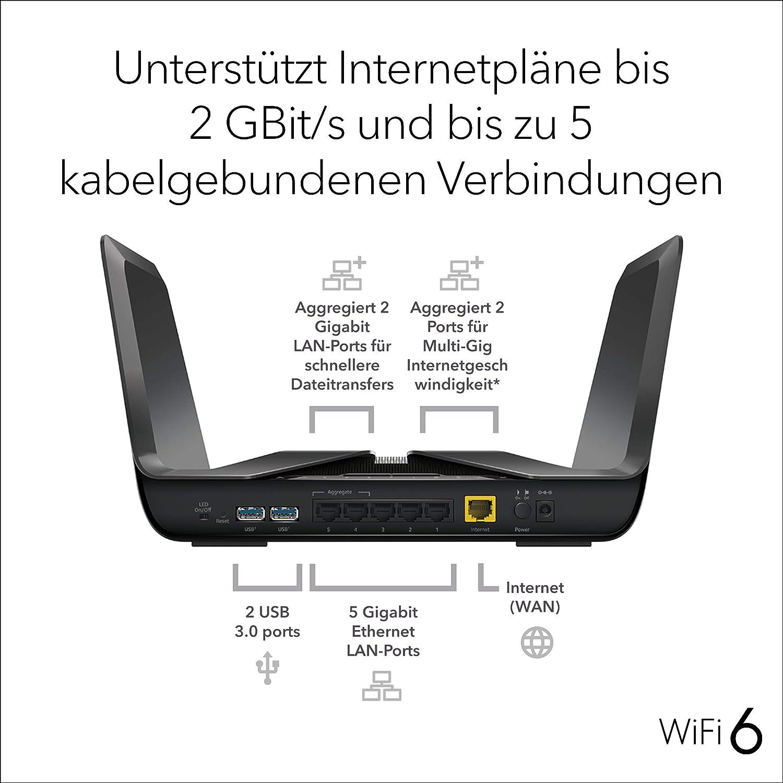 Netgear Nighthawk Rax80 Wifi 6 Wifi Router Ax6000 8 Computers Accessories