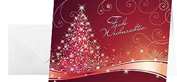 Rote Weihnachtskarten.Sigel Ds019 Rote Weihnachtskarten Set Mit Umschlag A6 25 Stück Weitere Designs