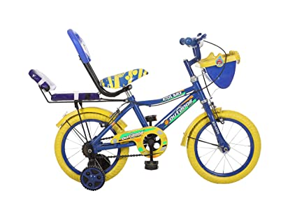 Outdoor Bikes Cycles Skoolmate Bicycle for 2.5 to 4.5 Age Group 14-inches (Semi Assembled with Assembly Instruction Manual and Tool Kit) (Blue)
