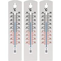 Termómetro Lantelme para exterior e interior de 20 cm hecho de plástico blanco y negro, analógico, desde -35 hasta 50 °C