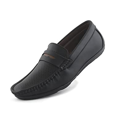 8ab872688f110 REDFOOT AORFEO Black Loafer Shoes for MenCasual Men Loafers No Lace ...