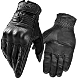 INBIKE Motorcycle Gloves Leather Full Finger with Hard Knuckle Durable for Road Racing Motorbike Outdoor Gloves Men…